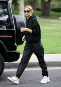 Rosie Huntington-Whiteley keeps it casual yet trendy as she steps out in Beverly Hills, Los Angeles