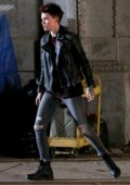 Ruby Rose give a first look at her role as Batwoman for DC's new TV pilot filmed in Chicago, Illinois