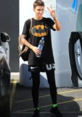 Ruby Rose spotted in a Batman t-shirt as she leaves the gym following an afternoon workout session in Los Angeles