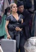 Salma Hayek spotted while filming 'The Hitman's Wife's Bodyguard' with Ryan Reynolds and Samuel L Jackson in Croatia