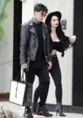 Saraya-Jade Bevis shops at Gucci with her boyfriend in Beverly Hills, Los Angeles