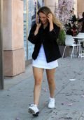Scarlet Rose Stallone chats on her phone while out shopping in Beverly Hills, Los Angeles
