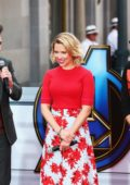 Scarlett Johansson and Avengers cast attend the charity event 'Avengers Universe Unites' at the Disneyland Resort in Anaheim, California