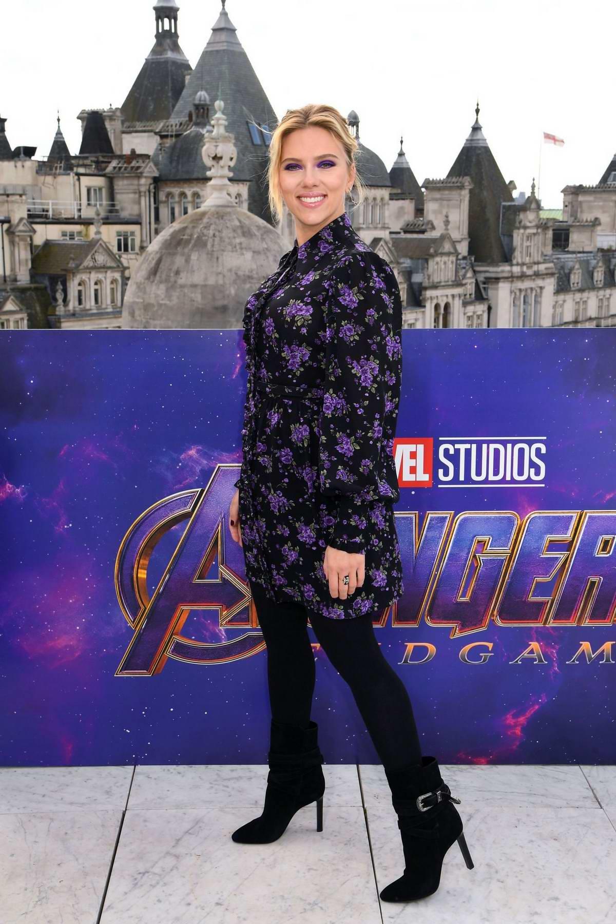 Scarlett Johansson attends 'Avengers: Endgame' Photocall at Corinthia London in London, UK