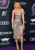 Scarlett Johansson attends the World Premiere of 'Avengers: Endgame' at the LA Convention Center in Los Angeles