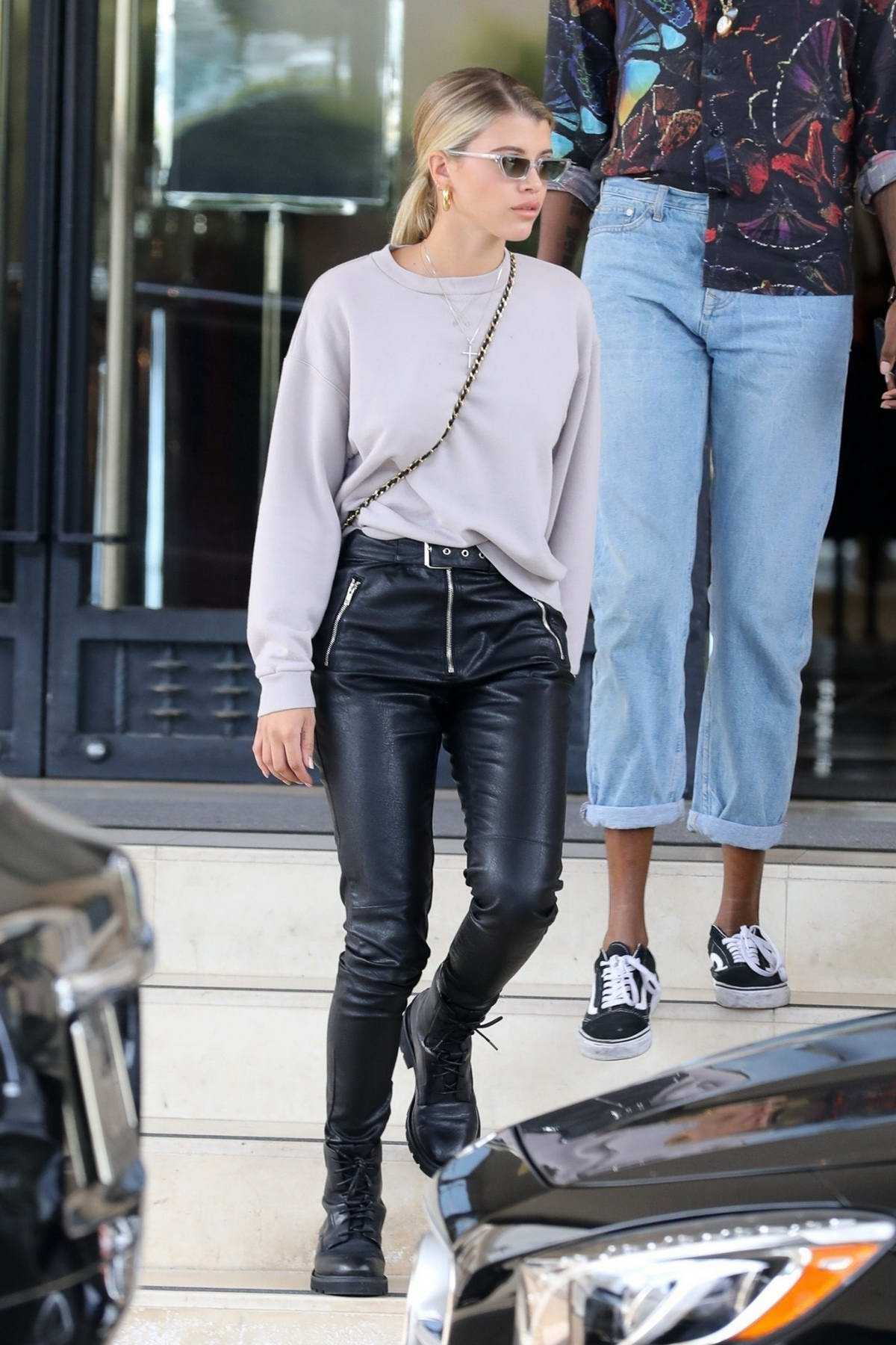 Sofia Richie exits Barney's New York empty-handed while out shopping with a pal in Beverly Hills, Los Angeles