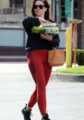 Sophia Bush picks up vegetables after leaving the gym in West Hollywood, Los Angeles