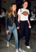 Sophie Turner spotted leaving after dinner with her BFF at Craig's in West Hollywood, Los Angeles