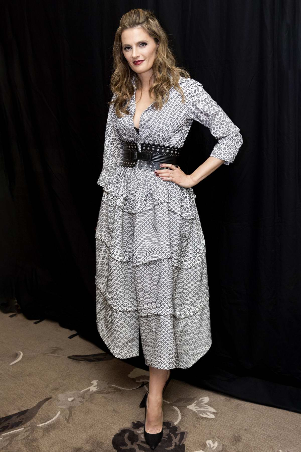 Stana Katic attends 'Absentia' Press Conference and Photocall in Los Angeles