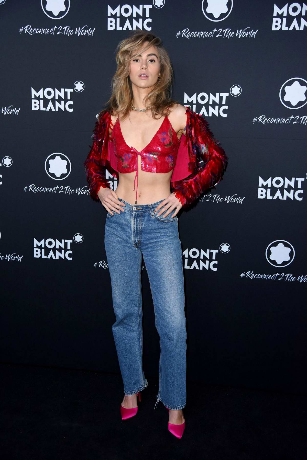 Suki Waterhouse attends Montblanc #Reconnect 2 The World Party at Metropol-Theater in Berlin-Mitte, Berlin, Germany