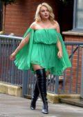 Zara Larsson is seen leaving Lucky Voice Karaoke bar in Soho, London, UK