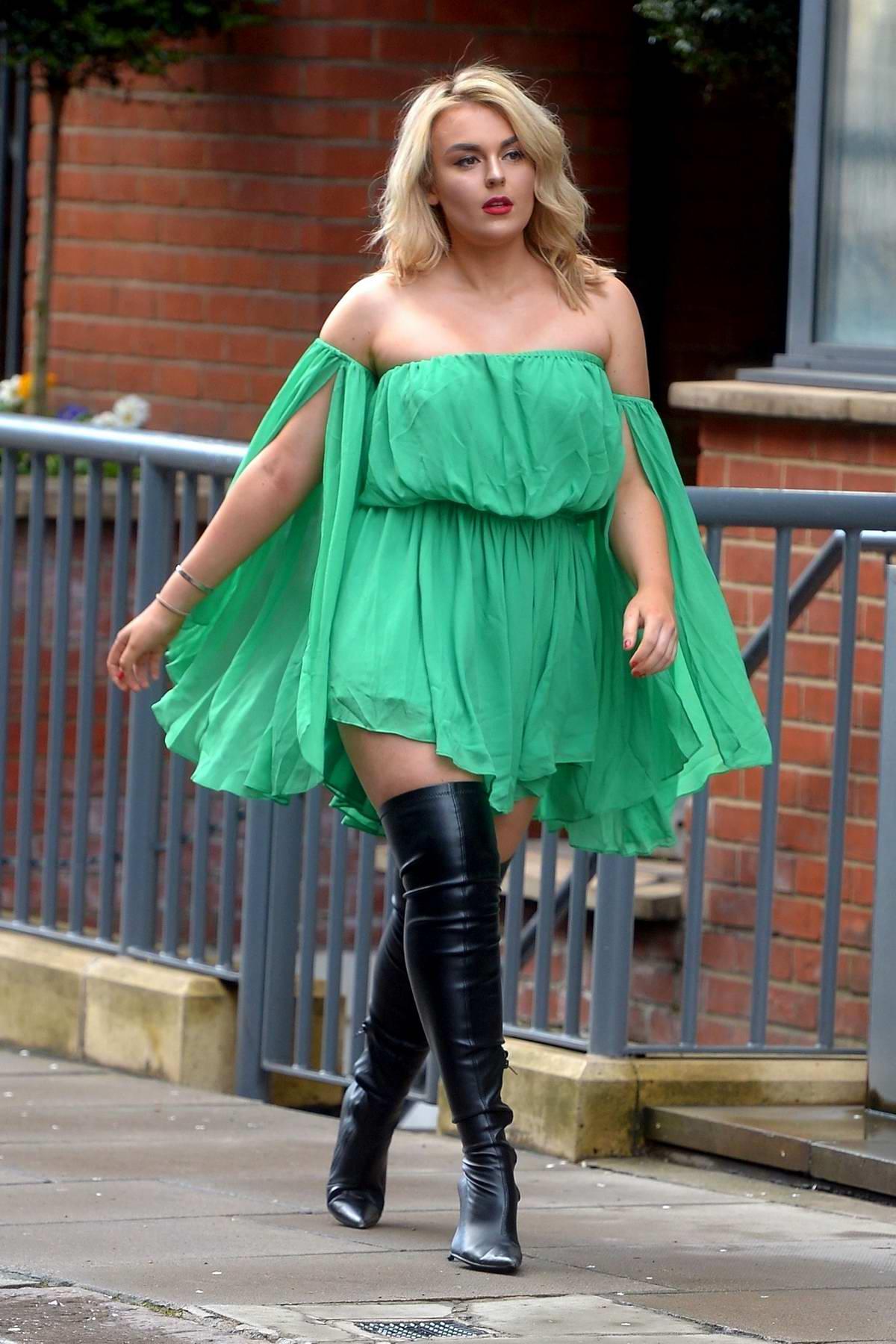 green dress boots