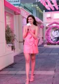Taylor Hill attends Lancome promotional event in Hong Kong, China