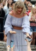 Taylor Swift surprises fans at the new Kelsey Montague 'What Lifts You Up' Mural in Nashville, Tennessee