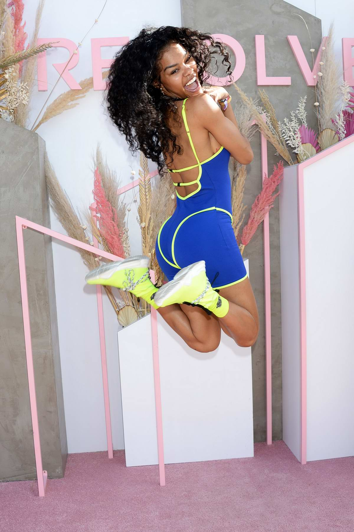 Teyana Taylor attends Revolvefestival 2019 - Day 2 during Coachella Valley Music and Arts Festival in Indio, California