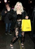 Zara Larsson seen leaving Lucky Voice Karaoke bar in Soho, London, UK