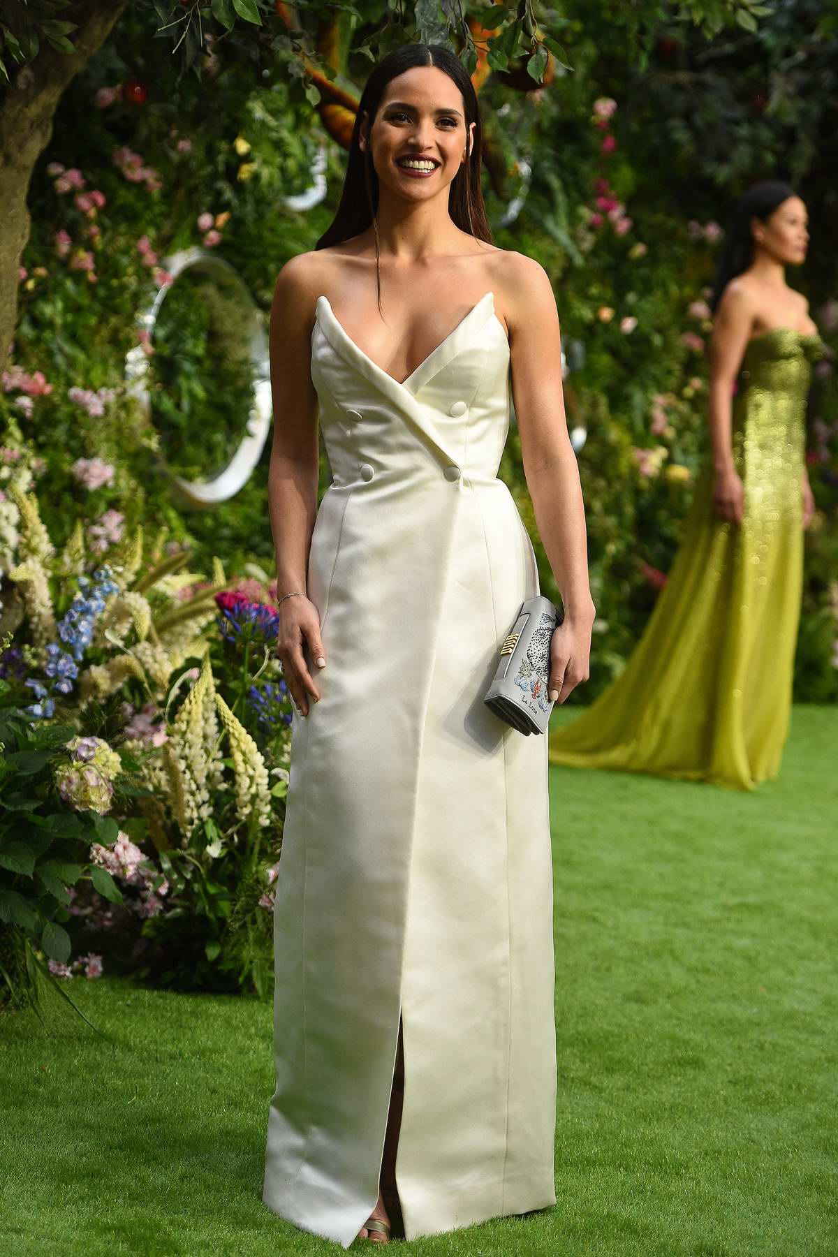 Adria Arjona attends the premiere of 'Good Omens' at the Odeon Luxe Leicester Square in London, UK