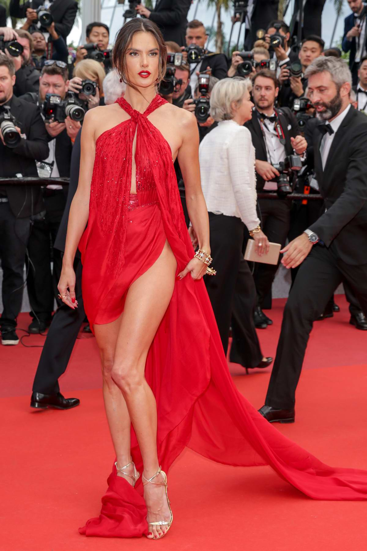 Alessandra Ambrosio attends the screening of 'Les Miserables' during the 72nd annual Cannes Film Festival in Cannes, France