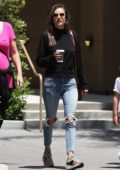 Alessandra Ambrosio enjoys a day out with her kids at Universal Studios in Universal City, California
