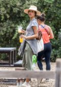 Alessandra Ambrosio keep things casual while visiting Descanso Gardens in Los Angeles