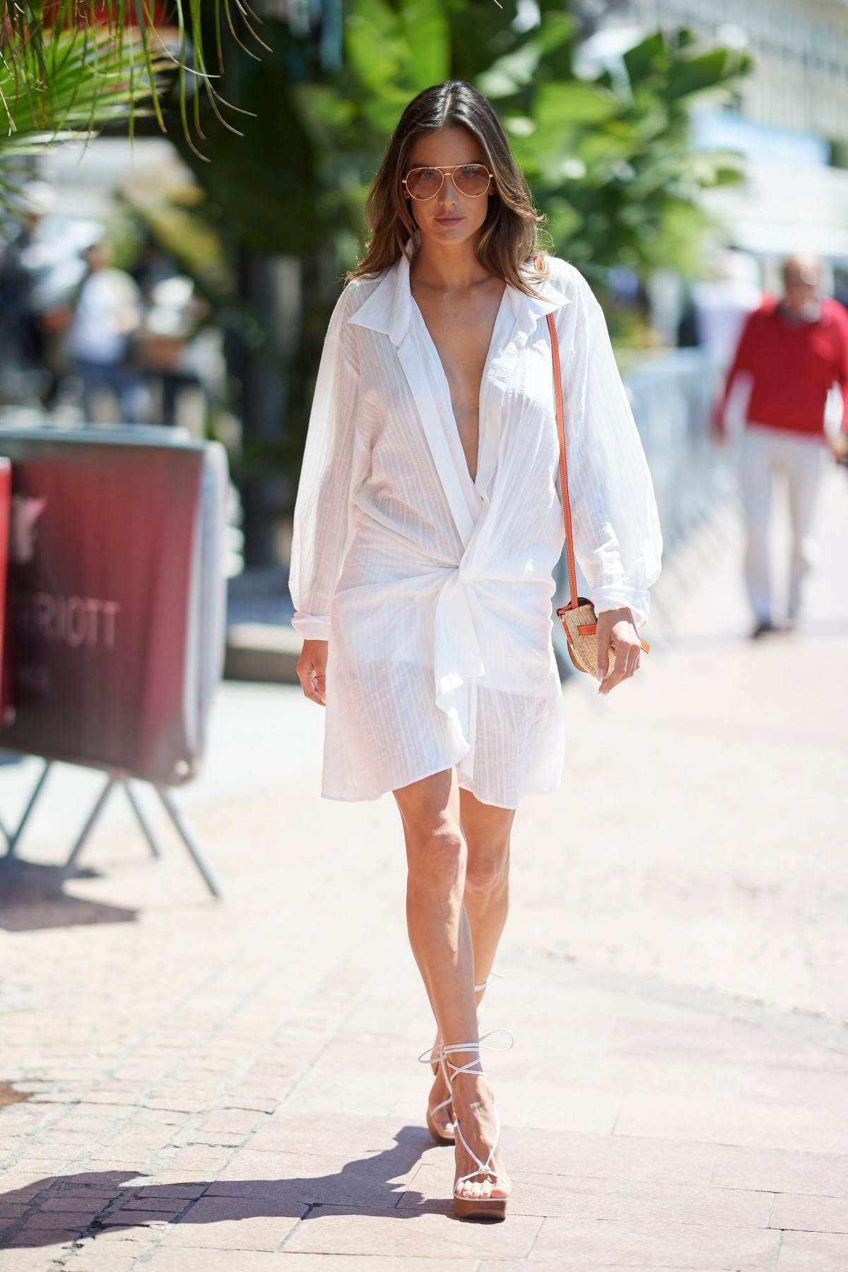 Alessandra Ambrosio looks stunning as she steps out on the Croisette during the 72nd Cannes Film Festival in Cannes, France