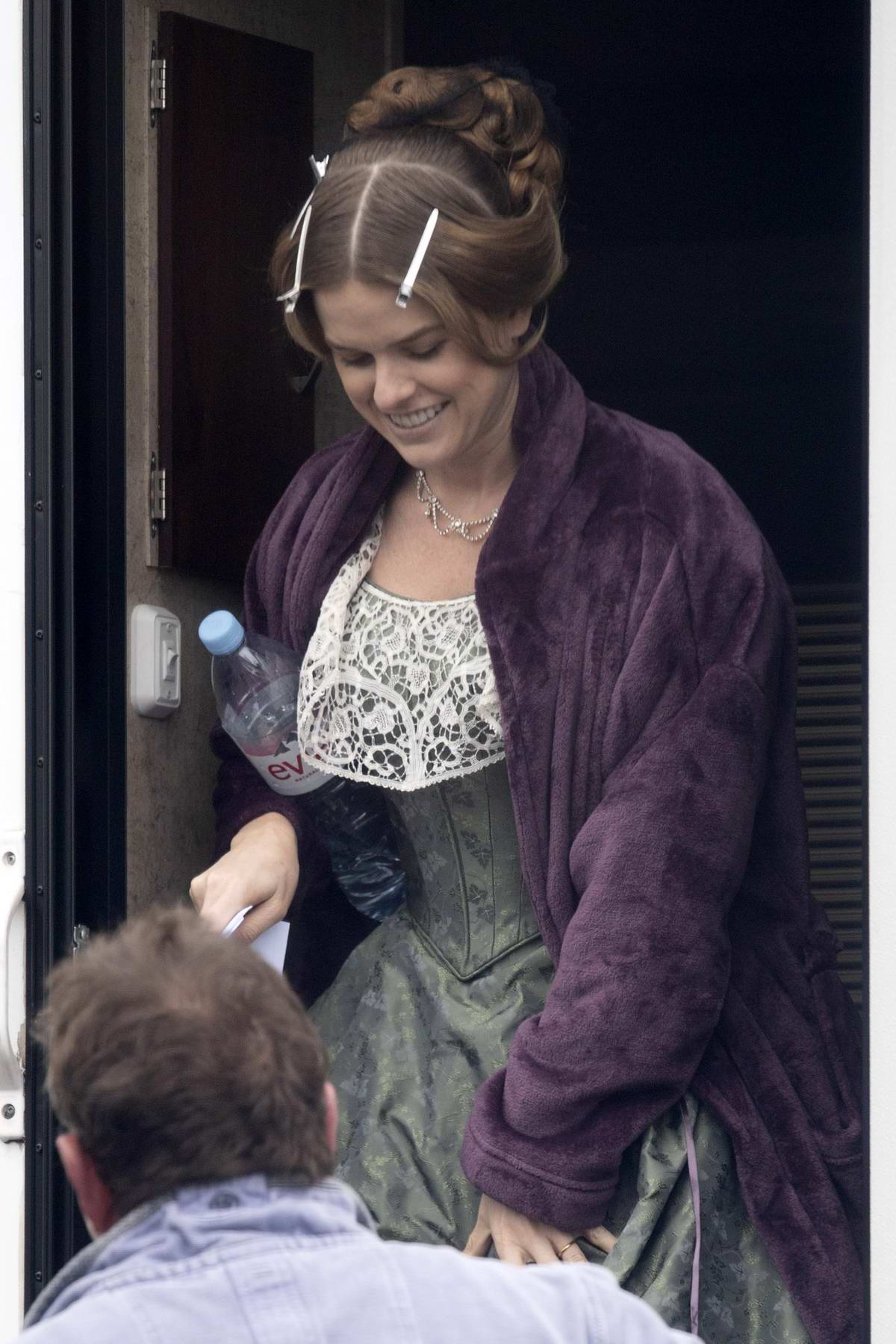 Alice Eve Spotted On Set For The New Itv Series Belgravia In