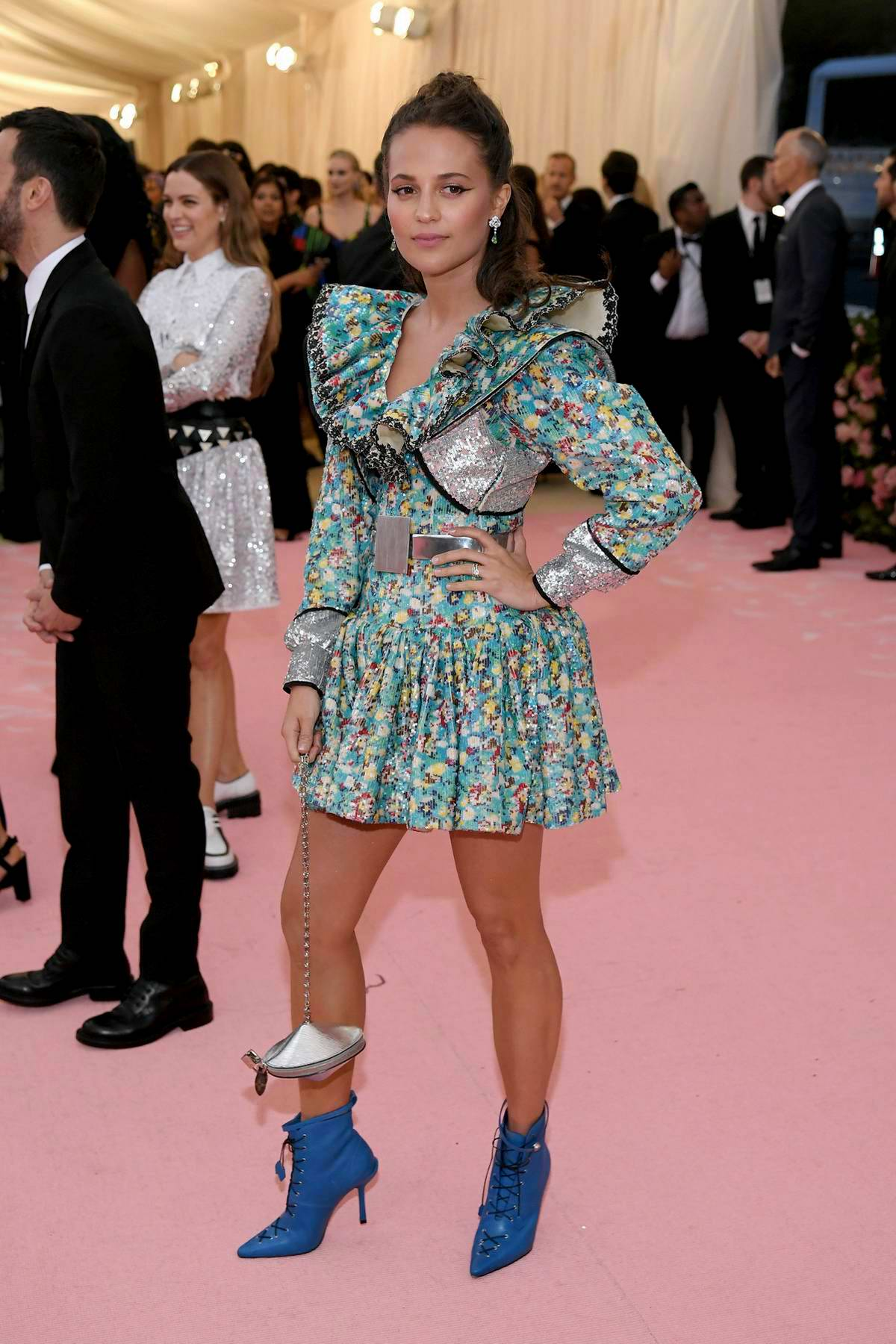 Alicia Vikander attends The 2019 Met Gala Celebrating Camp: Notes on Fashion in New York City