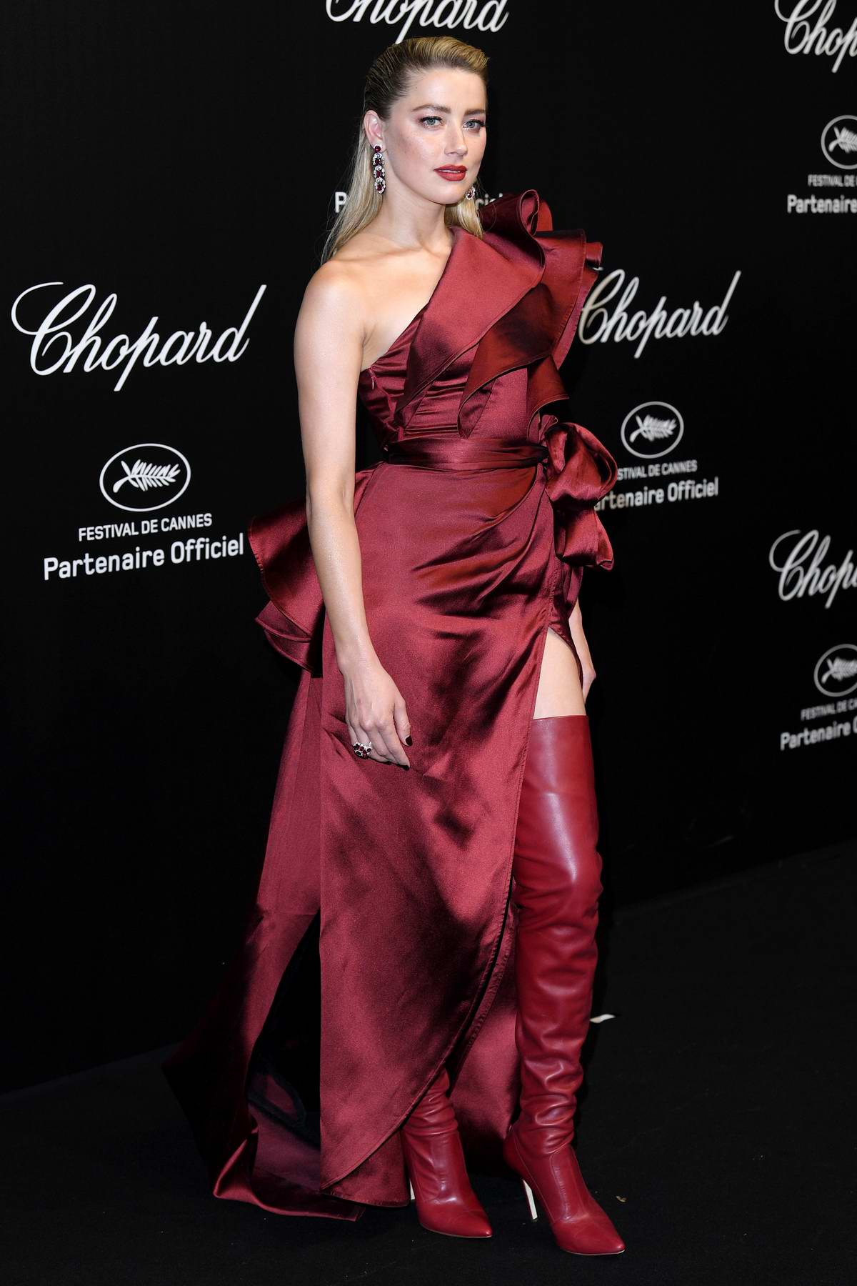 Amber Heard attends the Chopard Love Night Party during the 72nd annual Cannes Film Festival in Cannes, France