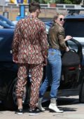 Amber Heard rolls up in style for a family lunch at Nobu in Malibu, California