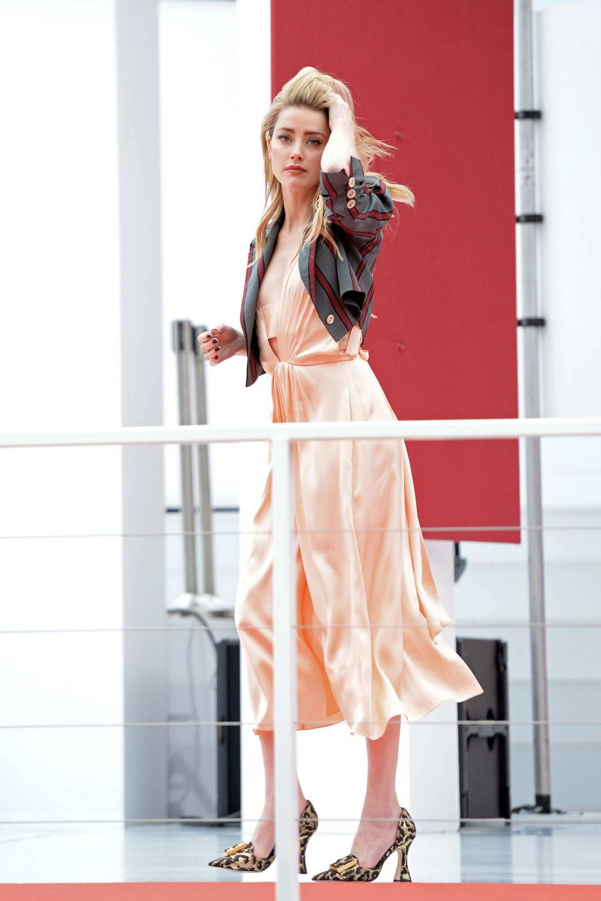 Amber Heard spotted on the set of a photoshoot for L'Oréal Paris in Cannes, France