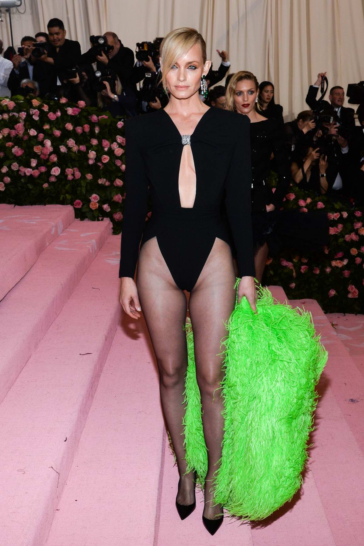 Amber Valletta attends The 2019 Met Gala Celebrating Camp: Notes on Fashion in New York City