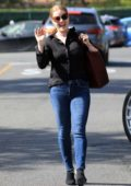 Amy Adams is all smiles as she strolled down the street in Beverly Hills, Los Angeles