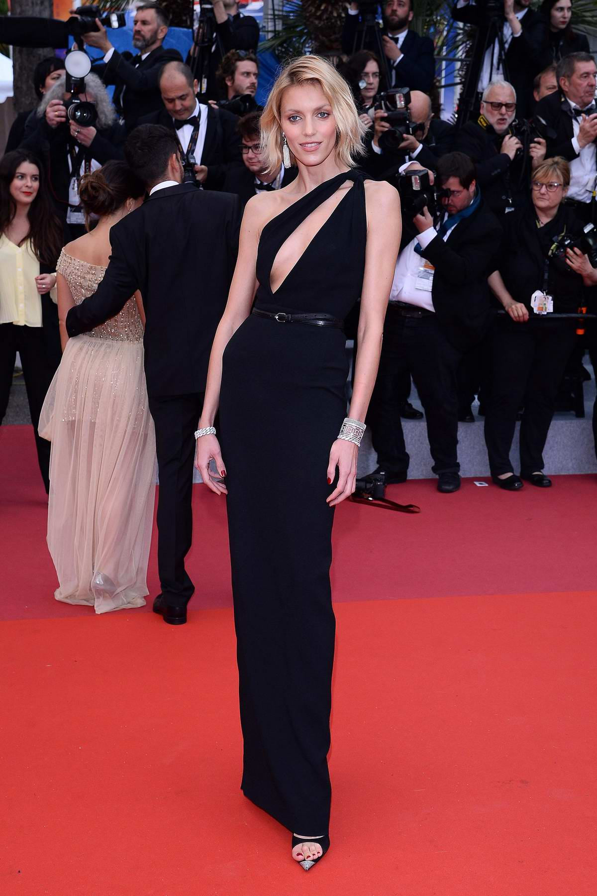 Anja Rubik attends the screening of 'A Hidden Life' during the 72nd annual Cannes Film Festival in Cannes, France