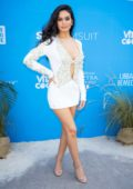 Anne de Paula attends the '2019 Sports Illustrated Swimsuit On Location' Day 2 at Ice Palace in Miami, Florida