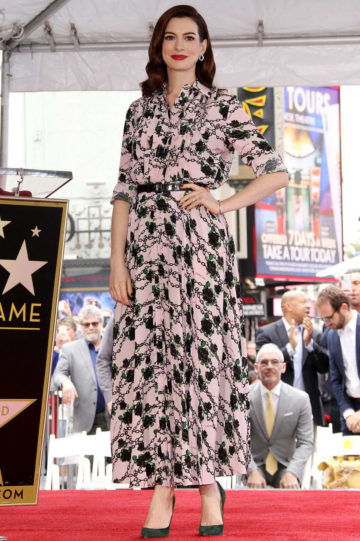 Anne Hathaway honored with Star on The Hollywood Walk of Fame in Los Angeles