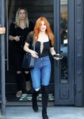 Ariel Winter debuts her new red hair color as she leaves Nine Zero One salon in West Hollywood, Los Angeles