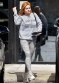 Ariel Winter opts for a sweatshirt and leggings as she steps out to run a few errands in Studio City, Los Angeles