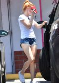 Ariel Winter picking up clothes from Milt and Eddie's famous dry cleaning in Toluca Lake, California