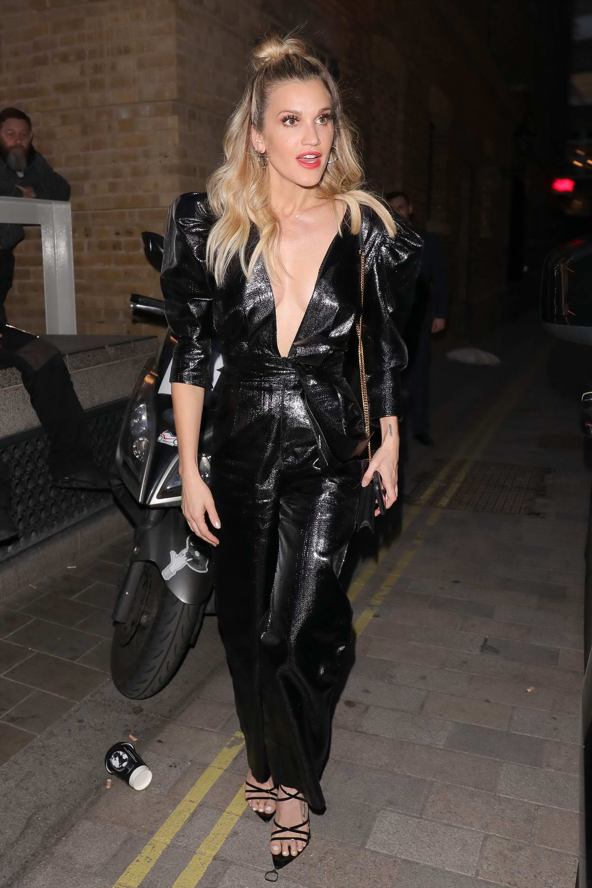 Ashley Roberts attends Jourdan Dunn x Maybelline party at H&M Covent Garden in London, UK