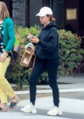 Ashley Tisdale goes shopping with her mom and dog in Beverly Hills, Los Angeles