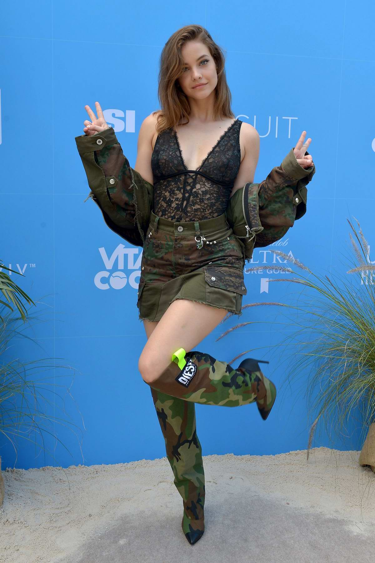 Barbara Palvin attends the '2019 Sports Illustrated Swimsuit On Location' at Ice Palace Film Studios in Miami, Florida