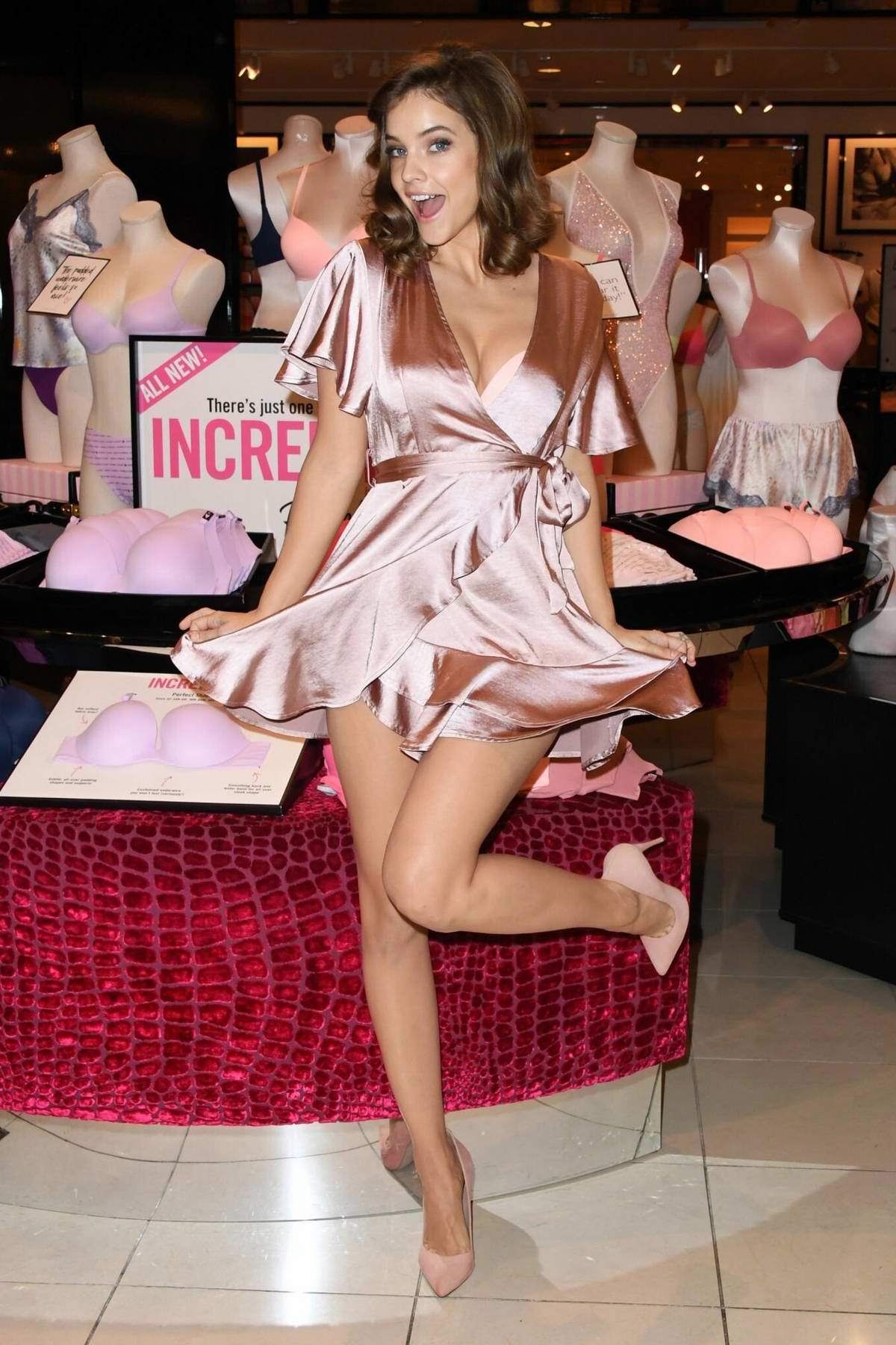 Barbara Palvin attends 'The Incredible Collection' launch tour at the Victoria's Secret store in Beverly Hills, Los Angeles