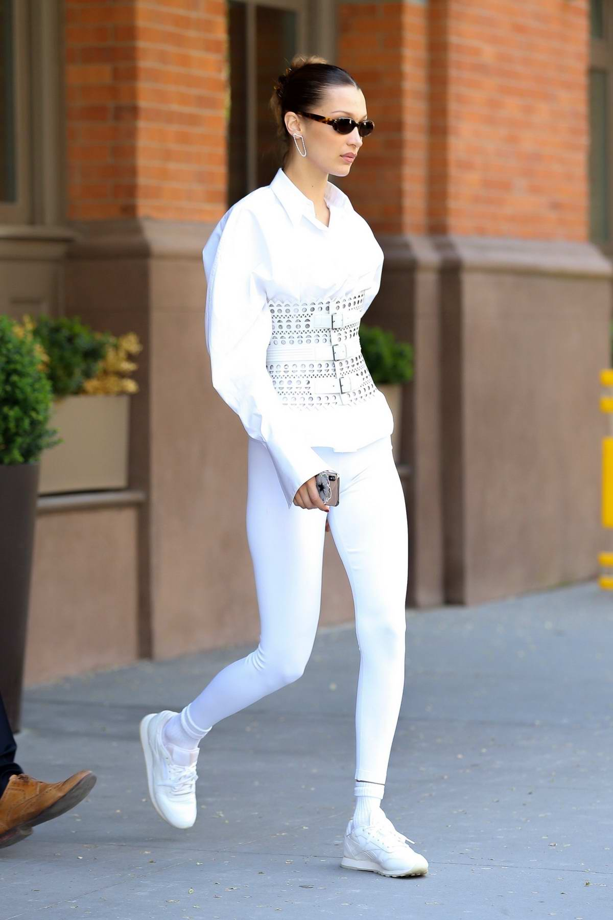 Bella Hadid dons all white as she heads out in style in New York City