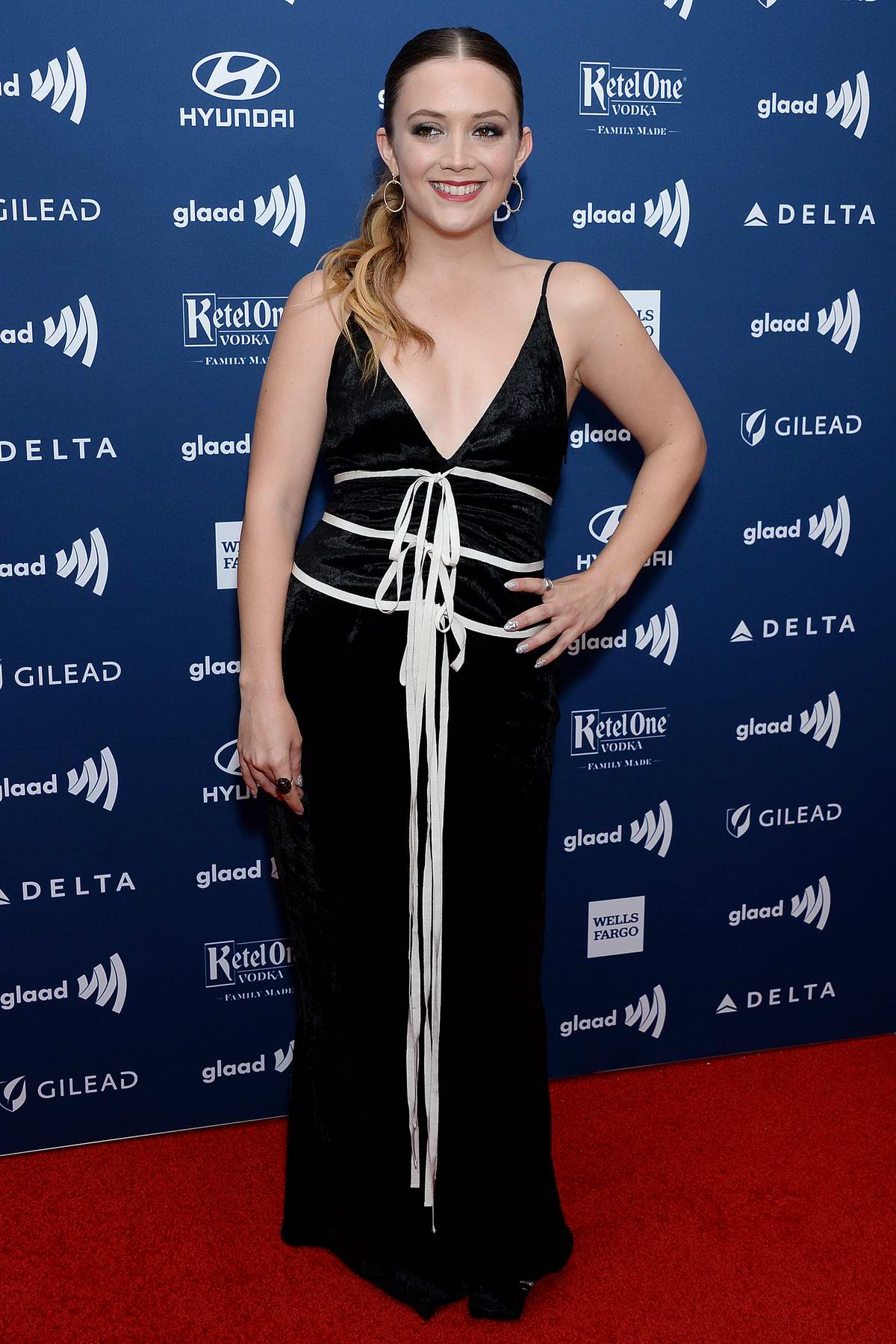 Billie Lourd attends the 30TH Annual GLAAD Media Awards in New York City