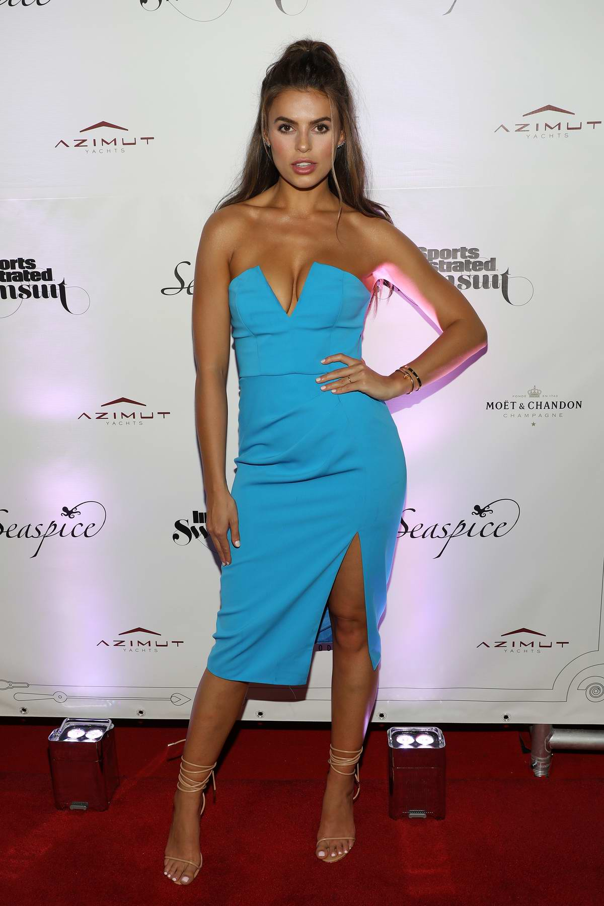 Brooks Nader attends Sports Illustrated Swimsuit 2019 Issue Launch at Seaspice in Miami, Florida