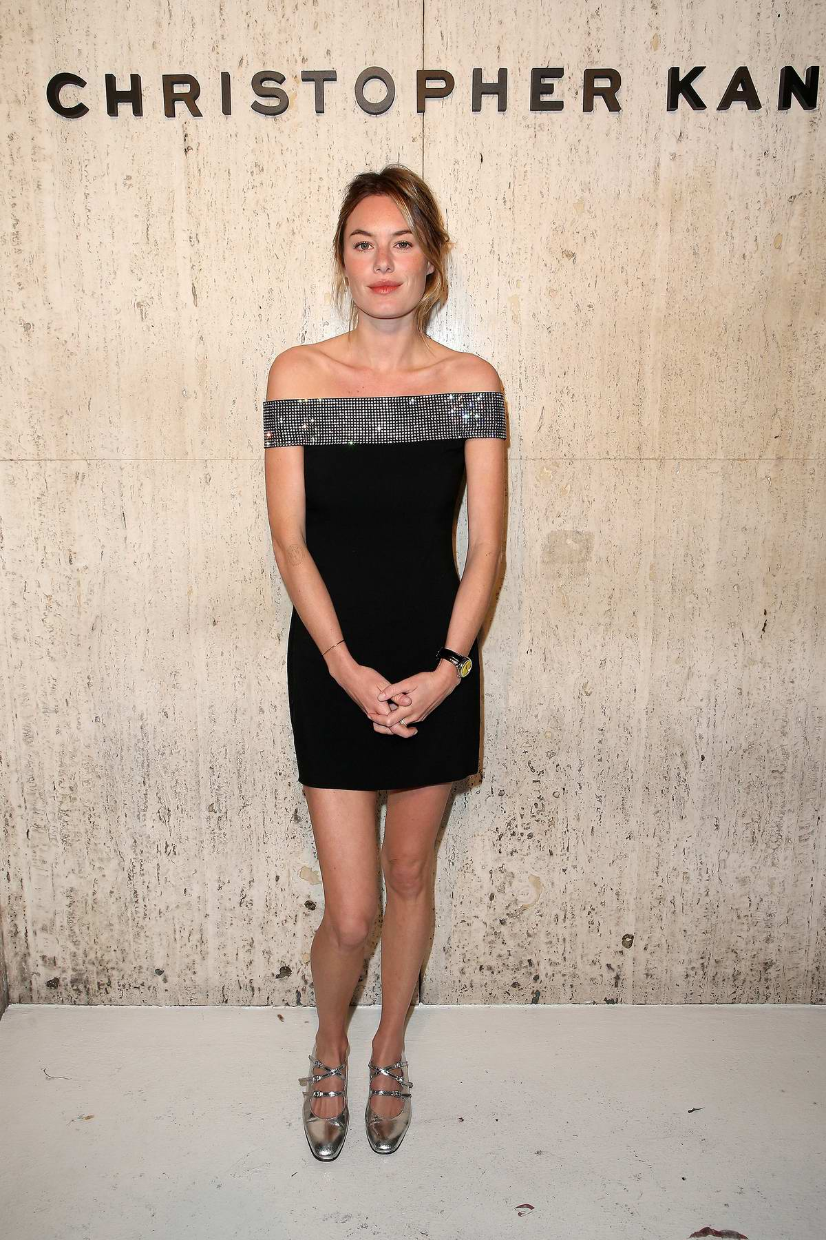 Camille Rowe attends Christopher Kane's party at Giorgio's in Los Angeles