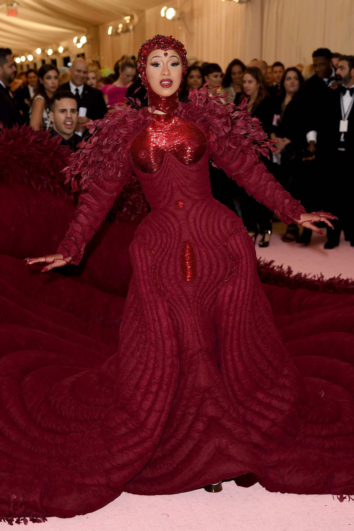 Cardi B attends The 2019 Met Gala Celebrating Camp: Notes on Fashion in New York City