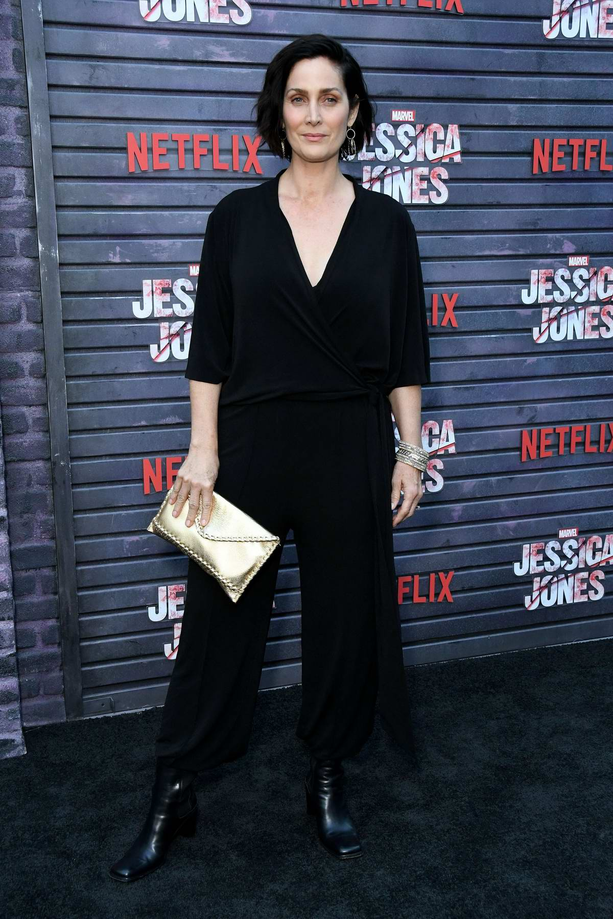 Carrie-Anne Moss attends the Special Screening of Netflix's 'Jessica Jones' Season 3 held at Arclight Hollywood, California