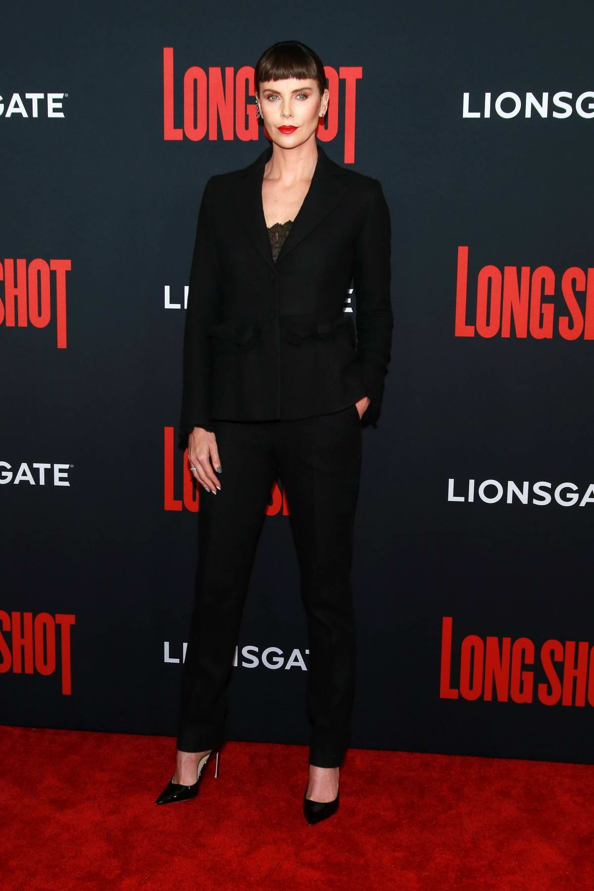 Charlize Theron attends 'Long Shot' premiere at AMC Lincoln Square Theater in New York City