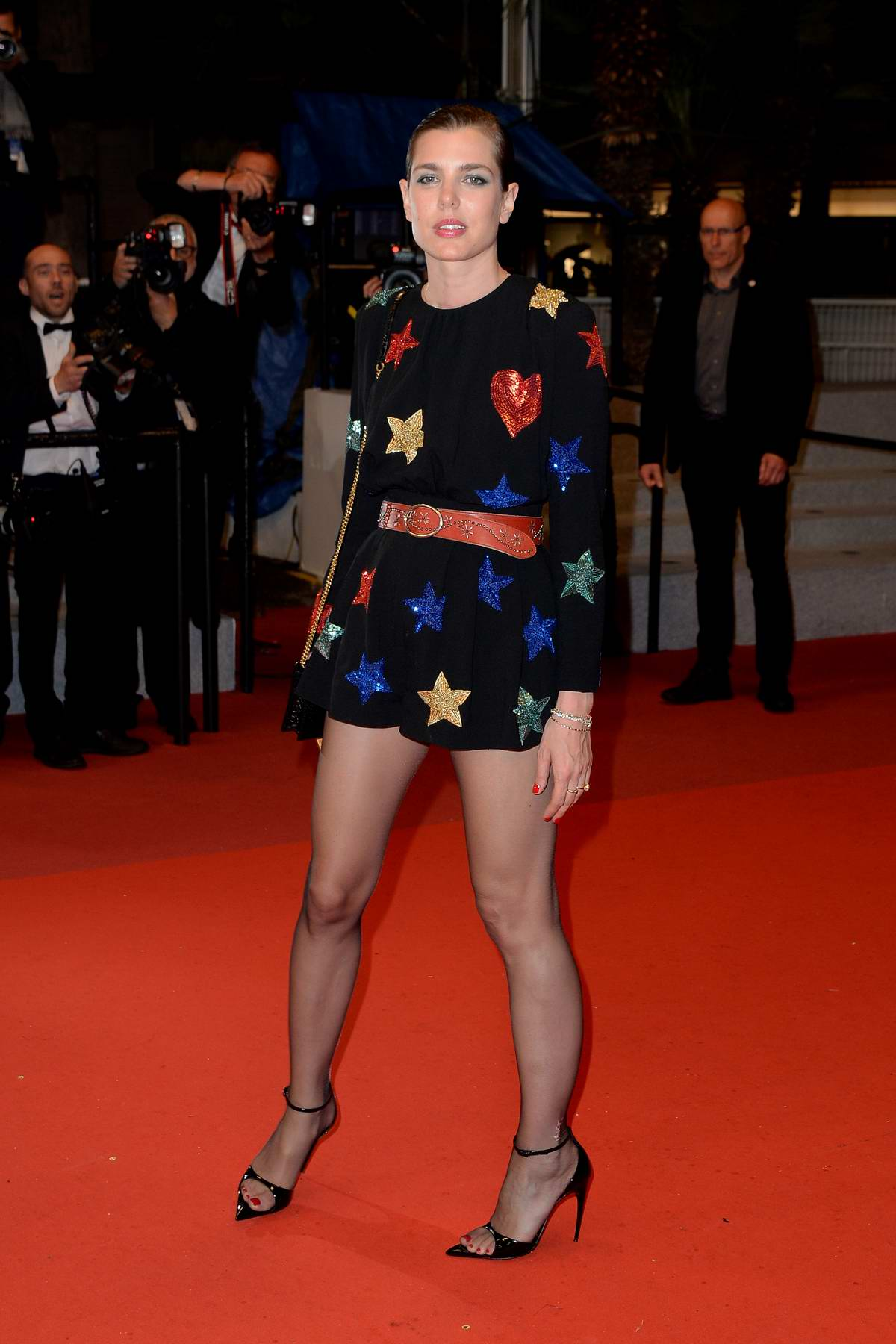 Charlotte Casiraghi attends the screening of 'Lux Aeterna' during the 72nd annual Cannes Film Festival in Cannes, France